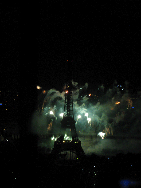 PARIS EIFFEL TOWER-BASTILLE DAY FIREWORKS SONIA CHEDLI