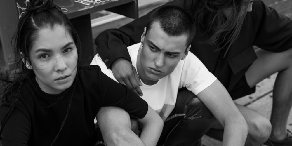 Menswear, Fashion, Styling, Sonia Chedli, Cohen and Austin Elite Models, David Choi, Lian Plutino Models, Black and white portrait