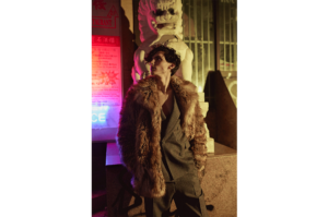 DRIES VAN NOTEN SUIT FAUX FUR COAT MENSWEAR EDITORIAL FASHION STYLIST SONIA CHEDLI ELITE MODEL MANAGEMENT VULKAN MAGAZINE